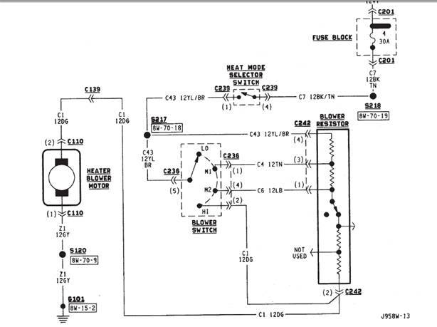 Peachy Xj Heat Not Blowing Pre 1997 How To Diagnose And Fix Dandim Mohammedshrine Wiring Diagrams Dandimmohammedshrineorg