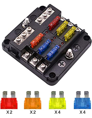 Marvelous Amazon Com Fuse Boxes Fuses Accessories Automotive Dandim Mohammedshrine Wiring Diagrams Dandimmohammedshrineorg