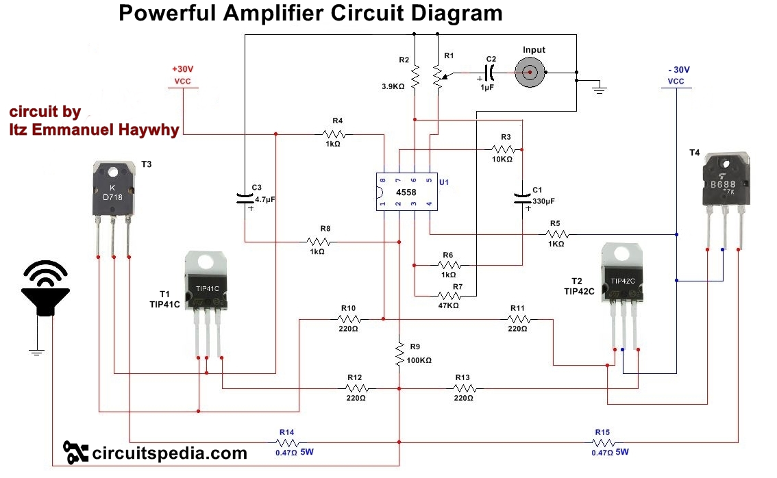 Miraculous How To Make Audio Power Amplifier Circuit Electronic Projects Dandim Mohammedshrine Wiring Diagrams Dandimmohammedshrineorg