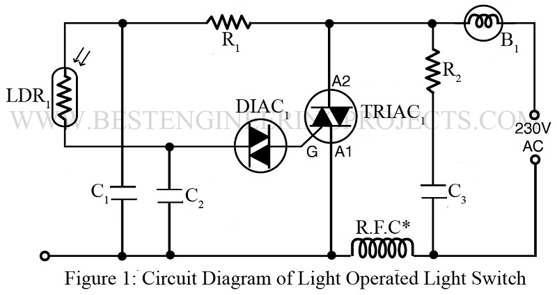 Swell Light Operated Lamp Switch Using Diac And Triac Engineering Projects Dandim Mohammedshrine Wiring Diagrams Dandimmohammedshrineorg