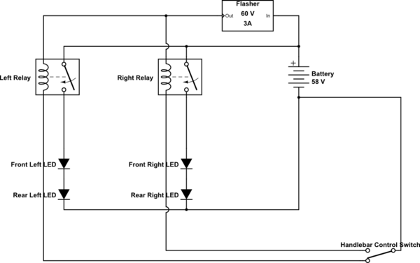 Brilliant Led Solid State Flasher Controlling Other Relays Electrical Dandim Mohammedshrine Wiring Diagrams Dandimmohammedshrineorg