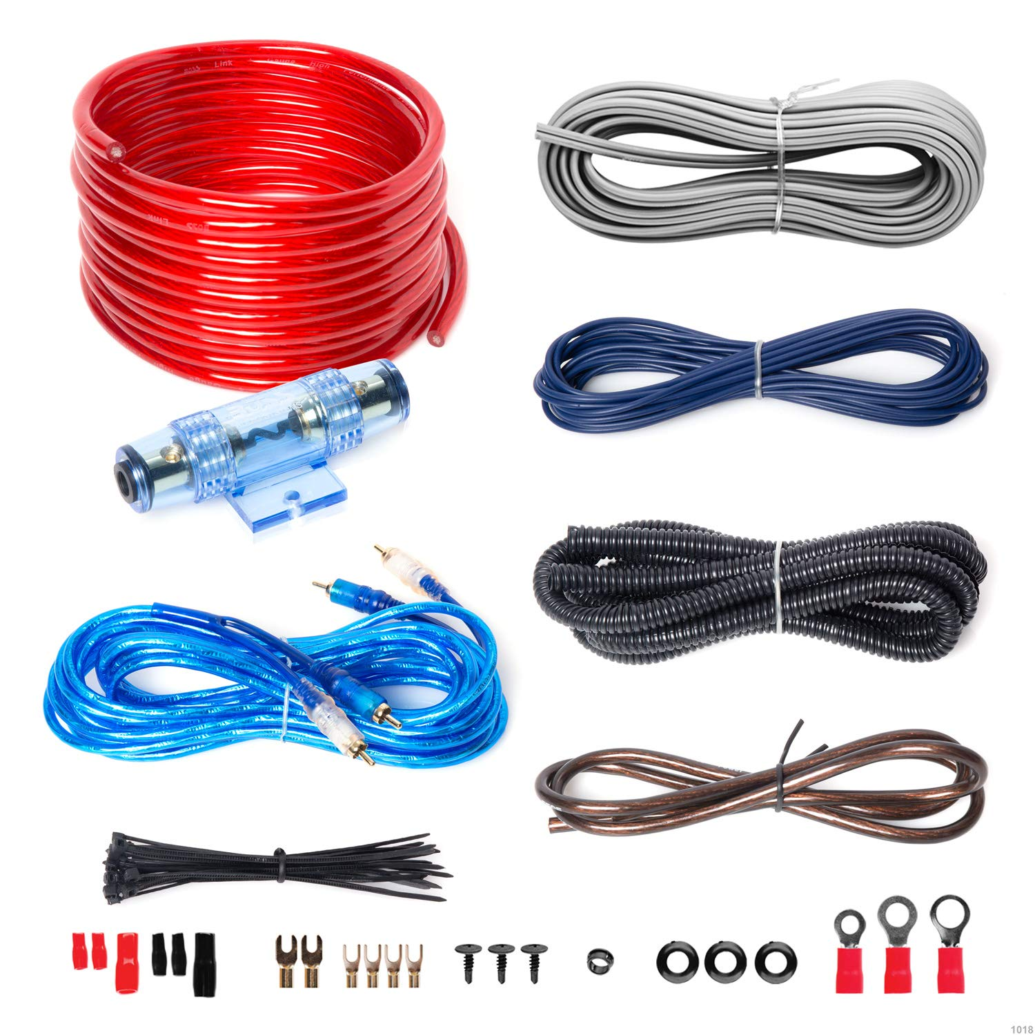 Excellent Boss Audio Kit2 8 Gauge Amplifier Installation Wiring Kit A Car Amplifier Wiring Kit Helps You Make Connections And Brings Power To Your Radio Dandim Mohammedshrine Wiring Diagrams Dandimmohammedshrineorg