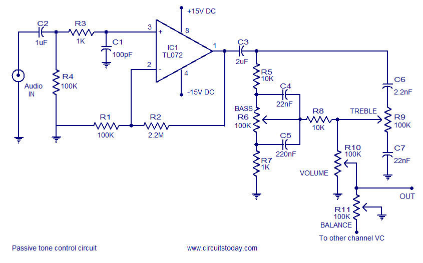 Magnificent A Quality Tone Control Circuit Using Opamp And Few Passive Components Dandim Mohammedshrine Wiring Diagrams Dandimmohammedshrineorg