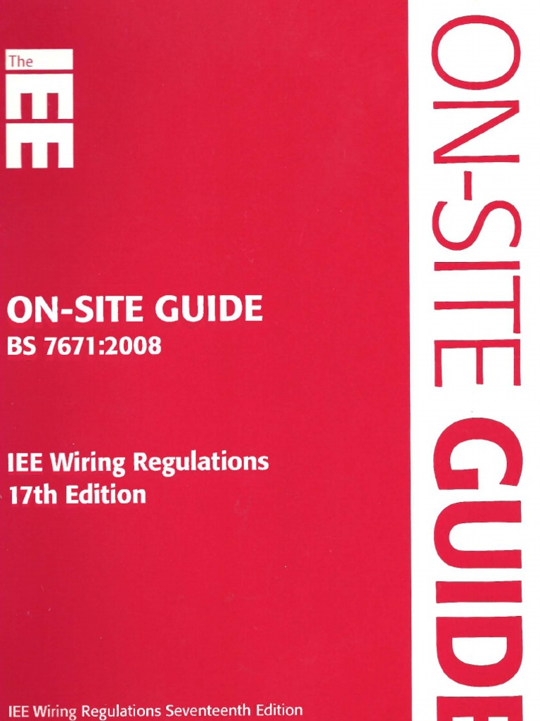 Prime On Site Guide Bs 7671 2008 Iee Wiring Regulations 17Th Edition Dandim Mohammedshrine Wiring Diagrams Dandimmohammedshrineorg