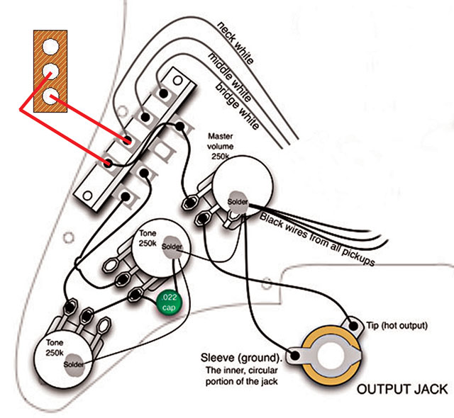 Awesome Replacing The Output Jack On An Electric Guitar Proaudioland Dandim Mohammedshrine Wiring Diagrams Dandimmohammedshrineorg