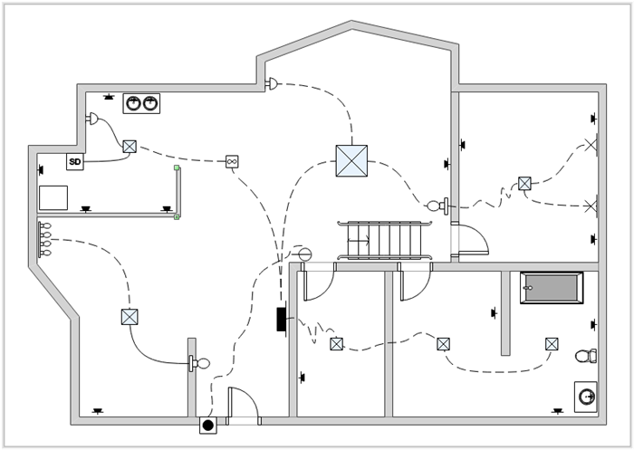 Amazing Domestic Electrical Wiring Diagram Basic Electronics Wiring Diagram Dandim Mohammedshrine Wiring Diagrams Dandimmohammedshrineorg