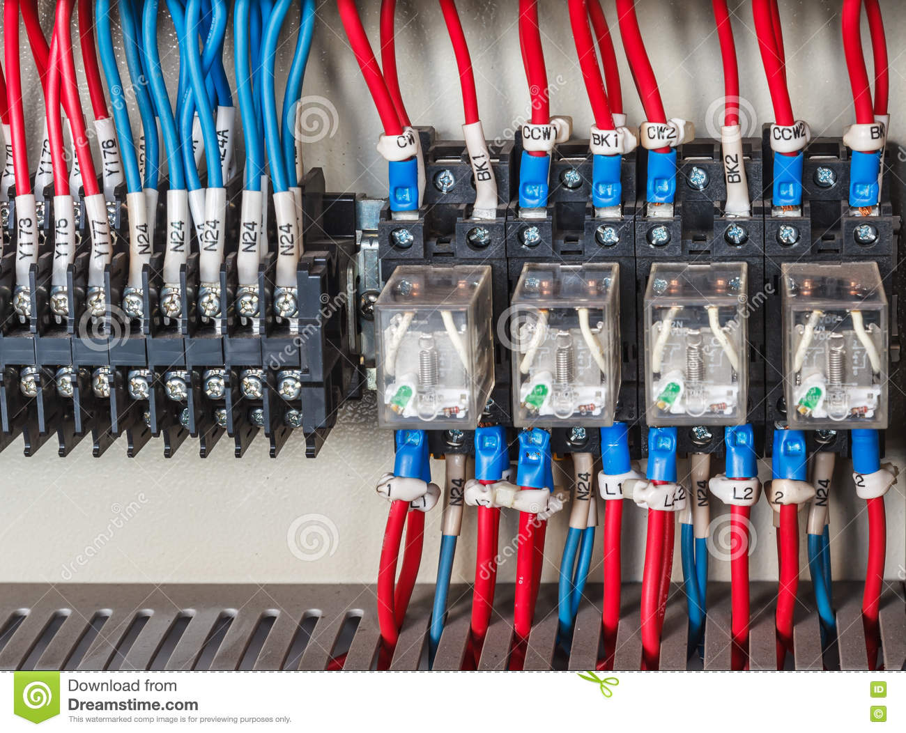 Astounding Wiring Plc Stock Photo Image Of Electric Amps Electrician 71996202 Dandim Mohammedshrine Wiring Diagrams Dandimmohammedshrineorg
