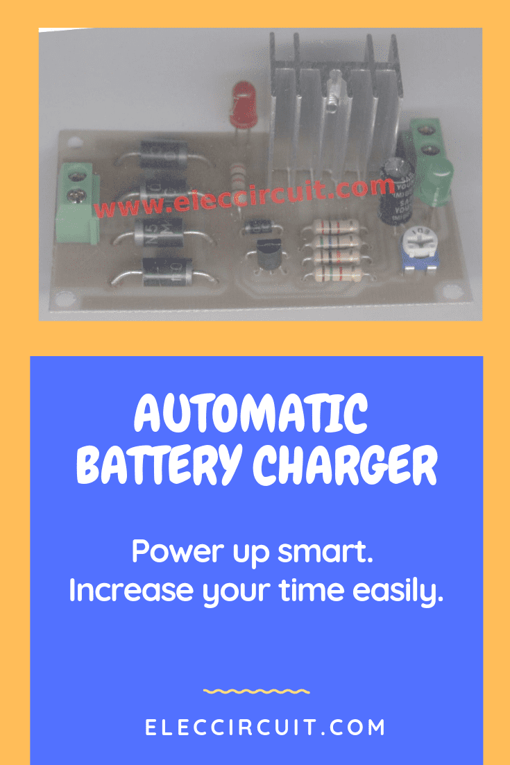 Pleasing Automatic Battery Charger Circuit Projects Eleccircuit Com Dandim Mohammedshrine Wiring Diagrams Dandimmohammedshrineorg